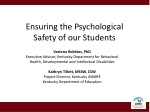 Ensuring the Psychological Safety of our Students
