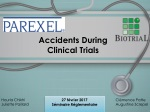 Accidents D uring Clinical Trials