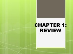 CHAPTER 1: REVIEW