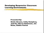 Developing Responsive Classroom Learning Environments