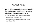 OO subtyping