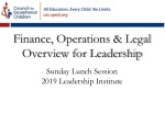 Sunday Lunch Session 2019 Leadership Institute