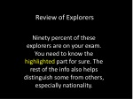 Review of Explorers