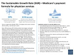 The Sustainable Growth Rate (SGR)—Medicare's payment formula for physician services
