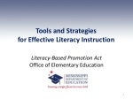 Tools and Strategies for Effective Literacy Instruction