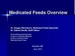Medicated Feeds Overview