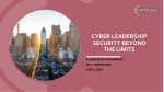Cyber leadership security beyond the limits
