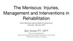 The Meniscus: Injuries, Management and Interventions in Rehabilitation