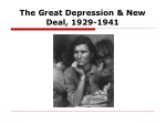 The Great Depression & New Deal, 1929-1941