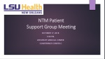 NTM Patient Support Group Meeting