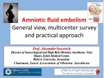 Amniotic fluid embolism  General view, multicenter survey and practical approach