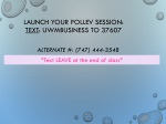Launch your PollEV session: Text : UWMBUSINESS to 37607
