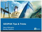 GEOPAK Tips Tricks