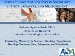Roberta Spalter -Roth, Ph.D Director of Research American Sociological Association