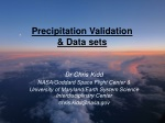 Precipitation Validation & Data sets