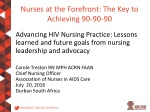 Nurses at the Forefront: The Key to Achieving 90-90-90