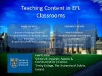 Teaching Content in EFL Classrooms