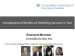 Computational Models of Modeling Sarcasm in Text