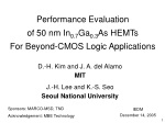 Performance Evaluation of 50 nm In 0.7 Ga 0.3 As HEMTs For Beyond-CMOS Logic Applications