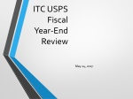 ITC USPS Fiscal Year-End Review