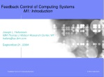 Feedback Control of Computing Systems M1: Introduction