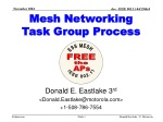Mesh Networking Task Group Process