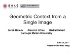 Geometric Context from a Single Image