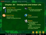 Chapter 20 – Immigrants and Urban Life
