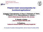 Polymer-metal nanocomposites for functional applications*