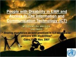 People with Disability in EMR and Access to The Information and Communication Technology (ICT)