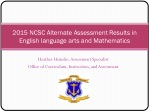 2015 NCSC Alternate Assessment Results in English language arts and Mathematics
