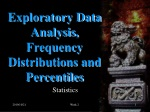 Exploratory Data Analysis, Frequency Distributions and Percentiles