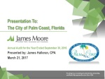 Annual Audit for the Year Ended September 30, 2016 Presented by: James Halleran, CPA