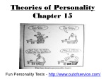 Theories of Personality Chapter 15