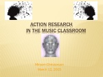 Action Research in the Music Classroom