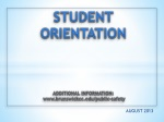 STUDENT ORIENTATION ADDITIONAL INFORMATION: brunswickcc/public-safety