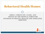 Behavioral Health Homes