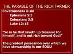 THE PARABLE OF THE RICH FARMER