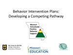 Behavior Intervention Plans: Developing a Competing Pathway