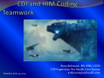 DRG and Code Reconciliation – CDI and HIM Coding Teamwork