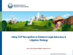 Using TCP Recognition to Enhance Legal Advocacy & Litigation Strategy
