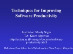 Techniques for Improving Software Productivity