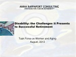 Disability: the Challenges it Presents to Successful Retirement