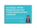 National Voter Registration Act & Voter Registration Agencies
