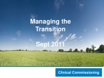 Managing the Transition Sept 2011