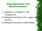 Metalloproteins and Metalloenzymes