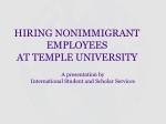HIRING NONIMMIGRANT EMPLOYEES AT TEMPLE UNIVERSITY