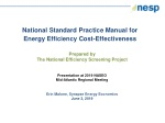 National Standard Practice Manual for Energy Efficiency Cost-Effectiveness