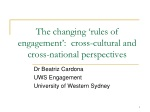 The changing 'rules of engagement': cross-cultural and cross-national perspectives