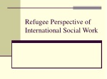 Refugee Perspective of International Social Work